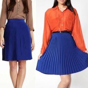 American Apparel | Cobalt Accordion Pleated Skirt